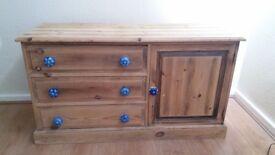 Bespoke handmade solid wood Draw cupboard