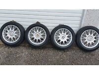 BBS Style Genuine 15 ''alloy wheels + 4 x tyres 195 55 15 PCD 4 x 108 Peugeot,Citroen,Ford
