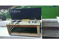 Beautiful mud kitchen