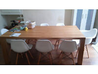 Dining Table 6-8 seater Ash veneered-simple & elegant-very good condition *LIVERPOOL