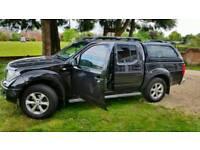 Nissan Navara 2.5 TD 55 Plate black sat nav leather 4 door with canopy