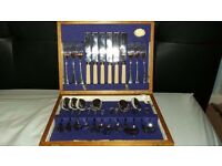 Firth Stainless Steel 24 piece Cutlery set in wooden box