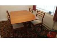 Stagg Drop Leaf Dining table with 4 chairs