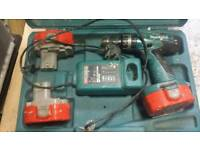 Makita drill 3 battery and charger