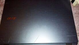 """Motherboard with processor, Acer Aspire 17"""" broken screen."""