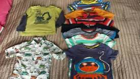 Bundle of boys clothes, shirts 2-3 years old