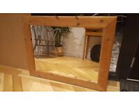 Pine mirror in good condition
