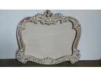 LARGE WOODEN ORNATE MIRROR FRAME