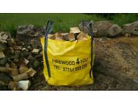 Seasoned firewood logs kindling