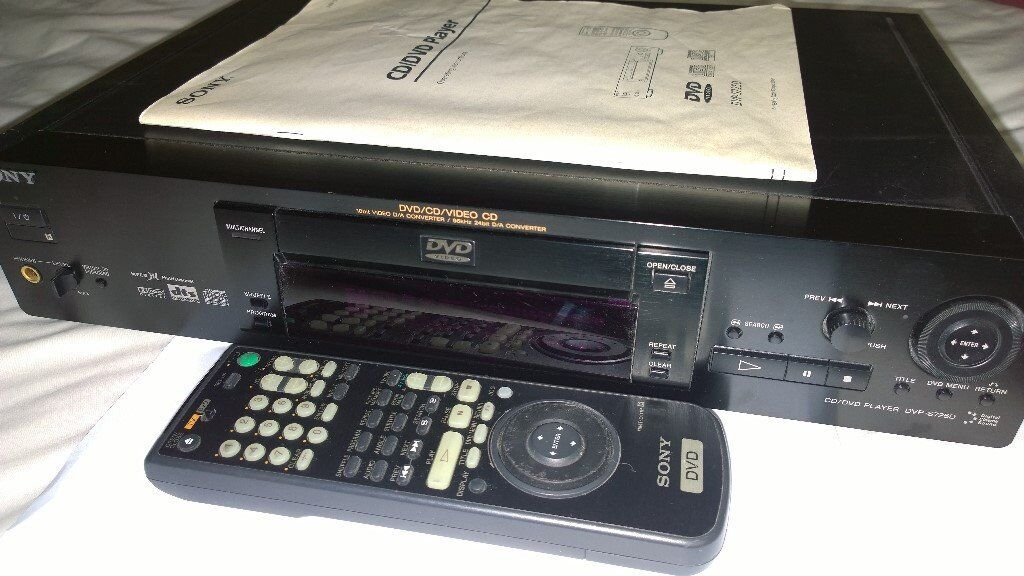 Sony DVD Player DVP-S725D. Black. Play DVDs and