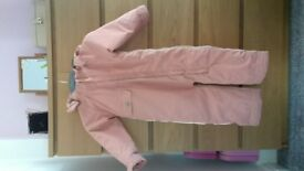 Salmon pink Thinsulate thermal snow suit age 3. Hardly worn, excellent condition.