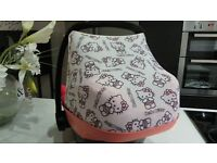 HELLO KITTY CANOPY FOR A MAXI COSI PEBBLE CAR SEAT