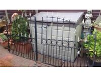 Wrought Iron double driveway gates, adjustable width