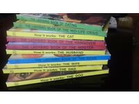 set of humorous ladybird books for grow ups