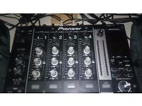 Pioneer DJM 750k with Decksaver mixer cover.