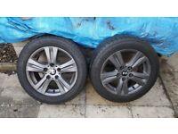 bmw 205x55x16 alloy wheels x2 only
