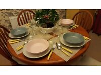 Cultery, plates and glasses