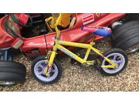 Small child's first two wheeler bike ages 4-7