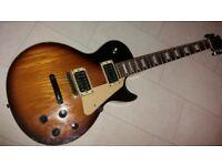 Electric Guitar les paul copy , set neck seymour duncans perfect player