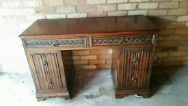 Antique wooden dresser with detail