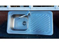 """Stainless steel inset sink, """"Scratchproof"""""""