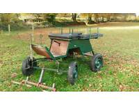 Equestrian exercise cart