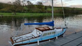 Falmouth Gipsy Mark II 24' triple keel, good condition,much loved family boat.Fully equipped.