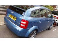 Audi A2 1.4 TDi SE 2003, £30 Road Tax, 70 MPG and very reliable little car.