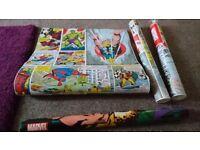 Marvel wallpaper 2 1/2 rolls