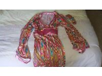 1960's fancy dress costume with pink knee high boots