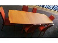 Excellent Condition Teak Extendable Table With Chairs,Possible Delivery