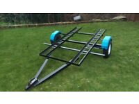 Motorcycle quad bike transport trailer, or camping, box.