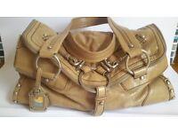 DKNY caramel color handbag
