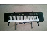 CASIO CTK-240 electric keyboard + stand + user guide + song book