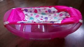 Baby girl bath with seat