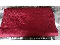 Double bed spread dark red