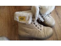 Ugg ankle boots beigh size 4