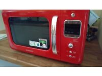 daewoo red microwave oven