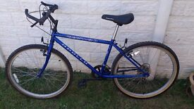 Apollo bike for sale blue and black young adult £ 20 collection only please