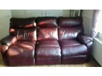 3 and 2 seater real leather suite