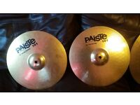 Paiste 101 Set of Cymbals + Cymbal Bag/Case