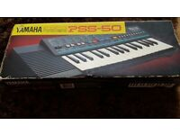 Vintage yamaha pss-50 electronic keyboard