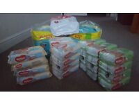 Pampers size 5 Nappies and Huggies wipes