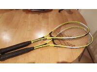Two Artenga 7 series squash rackets for sale