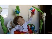 Fisher-Price Baby Rainforest Jumperoo, bouncer, perfect condition, like new, this year's model.