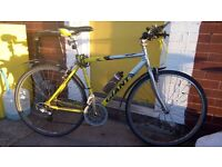 Stolen Bicycle - Yellow-Silver Hybrid Giant Bike