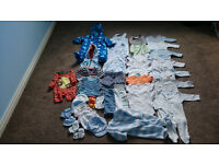 Baby boy large bundle 0-3 months,41 items for Autumn & Winter in good condition Next,F&F,George,H&M