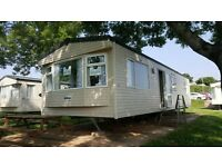 second hand static holiday home for sale. 11 month pet friendly park. 3 bed 8 berth. close to beach.