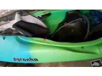 PYRANHA Kayak G3 river kayak including extras