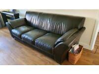 3 + 1 Dark Brown Leather sofa